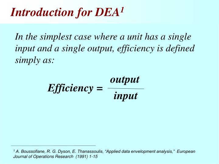 Introduction for DEA