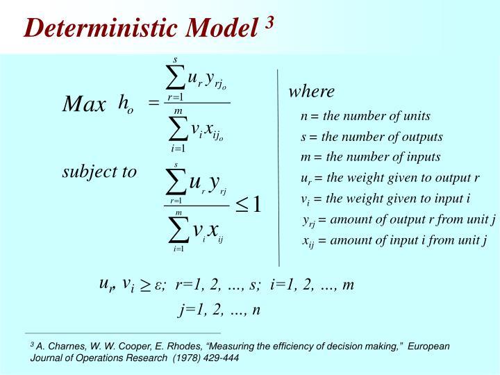 Deterministic Model