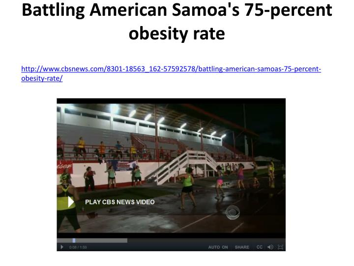 Battling American Samoa's 75-percent obesity rate