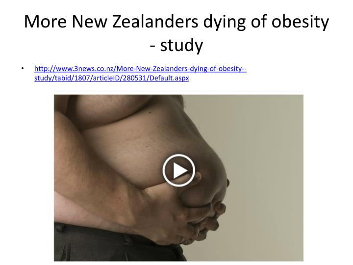 More New Zealanders dying of obesity - study