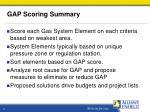 gap scoring summary
