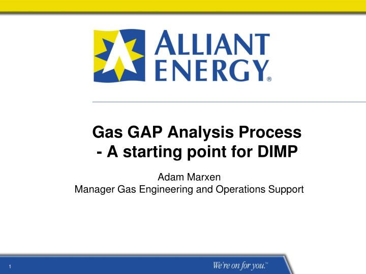 gas gap analysis process a starting point for dimp