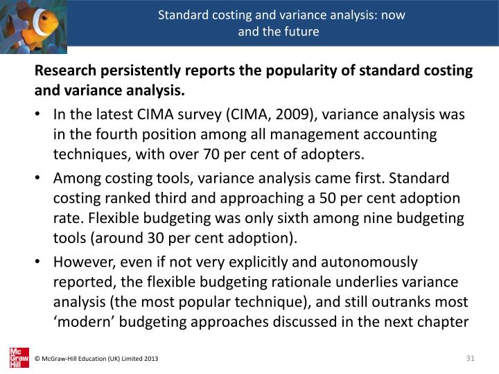 Standard costing and variance analysis: now