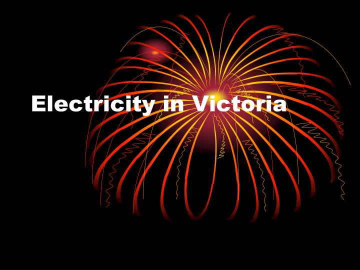 electricity in victoria n.