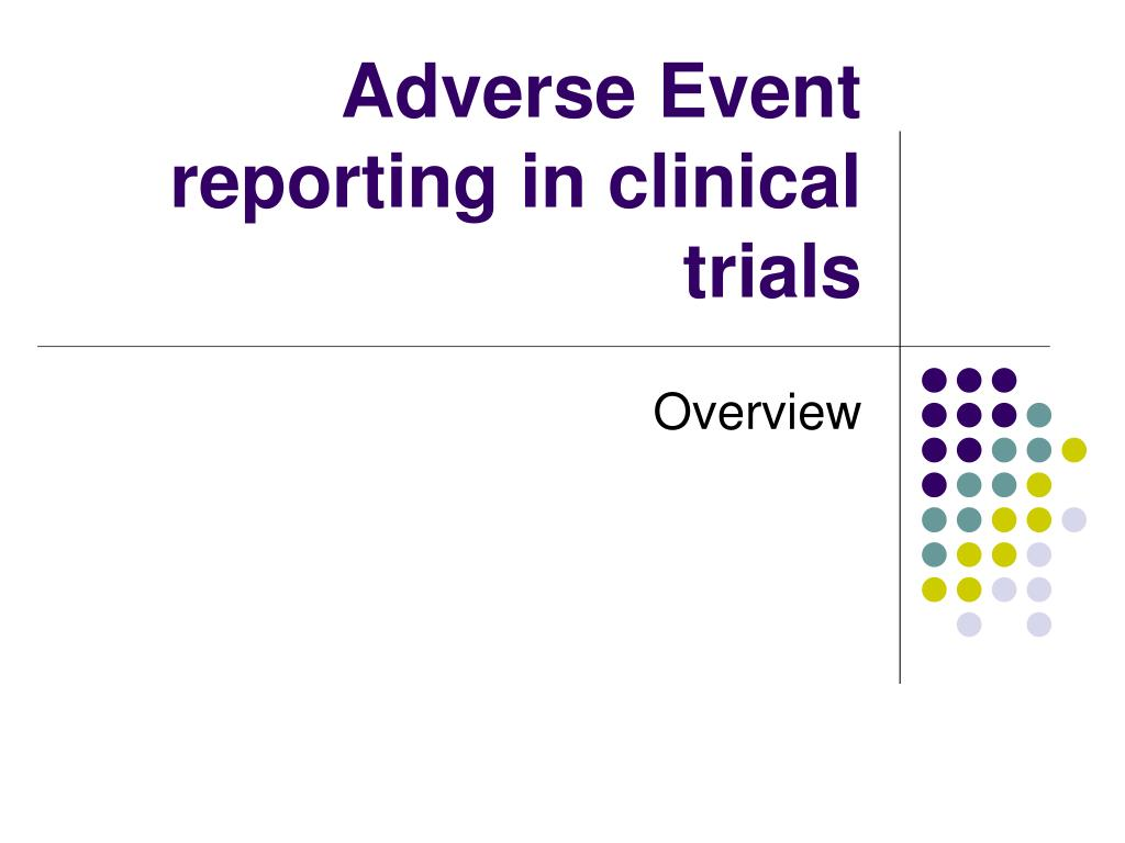 Serious adverse event ppt.