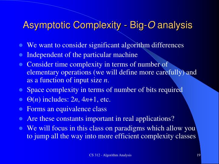 Asymptotic Complexity - Big-