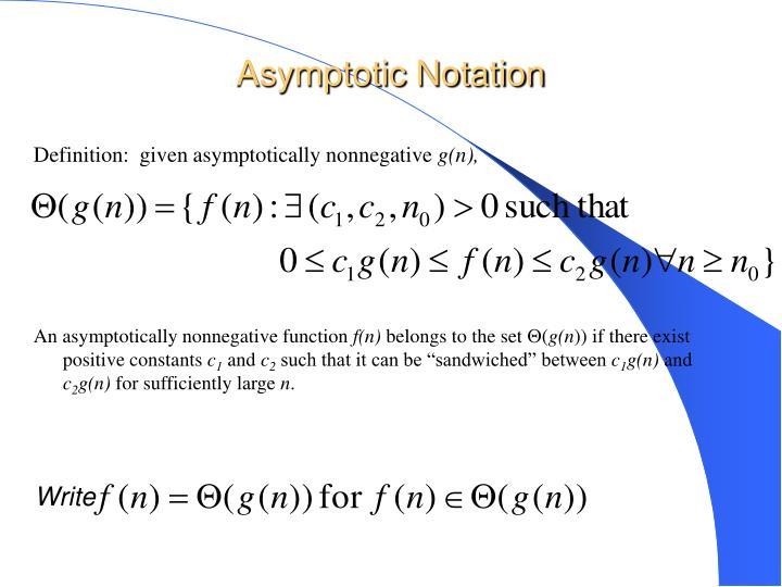 An asymptotically nonnegative function