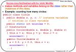 declare class field method with the static modifier