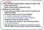 local classes