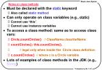 notes on class methods