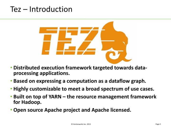 Tez introduction