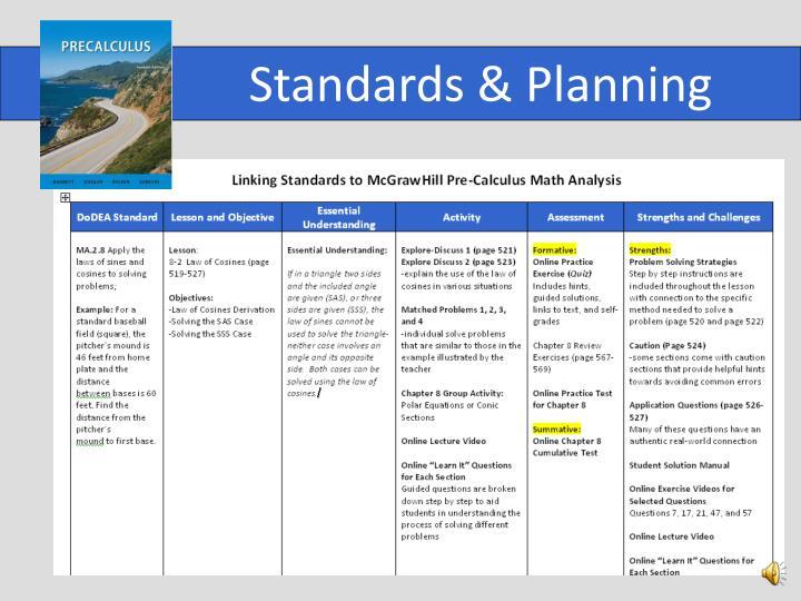 Standards & Planning