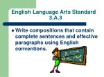english language arts standard 3 a 3