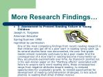 more research findings1