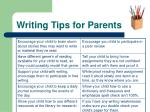 writing tips for parents
