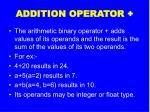 addition operator