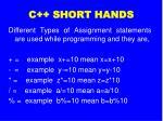c short hands