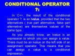 conditional operator3