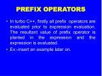 prefix operators