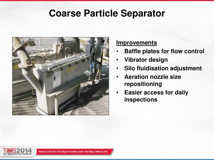 Coarse Particle Separator