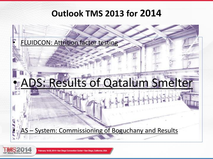 Outlook tms 2013 for 2014