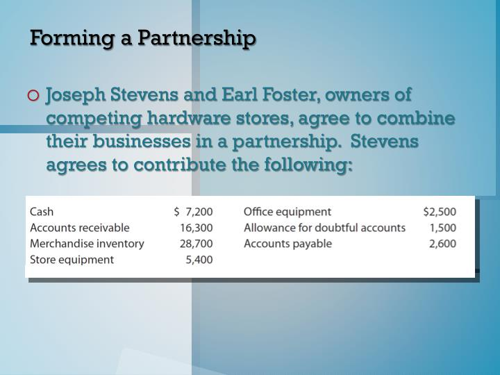 Forming a Partnership