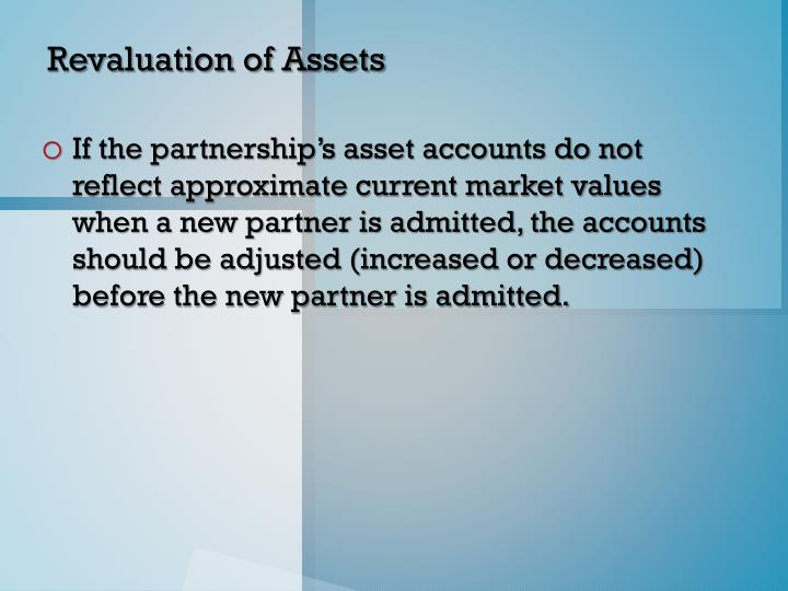 Revaluation of Assets