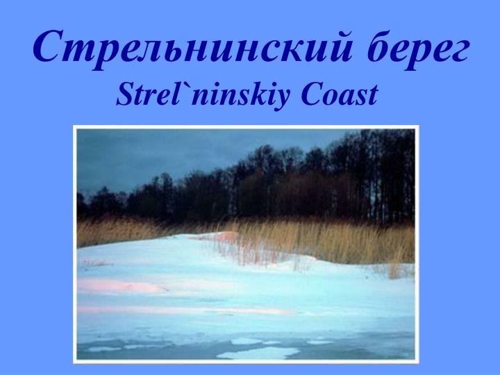 Стрельнинский берег