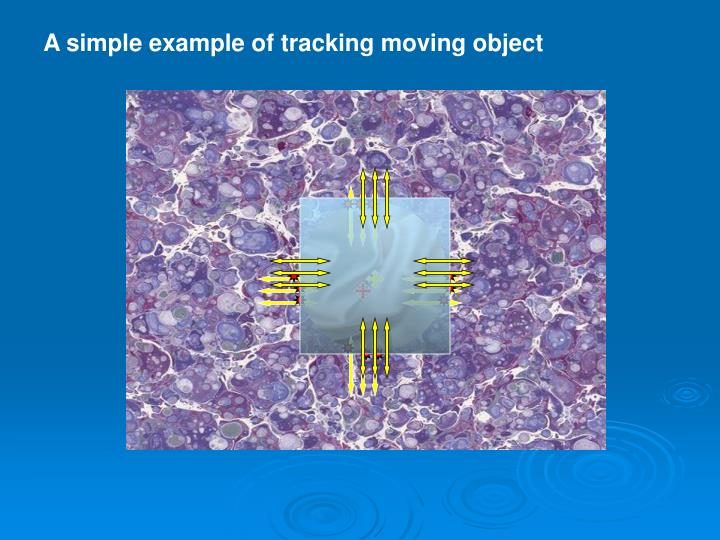 A simple example of tracking moving object