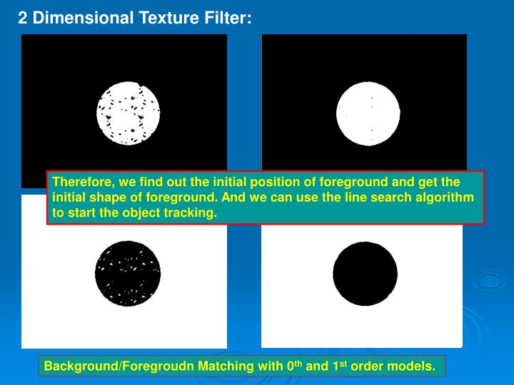 2 Dimensional Texture Filter: