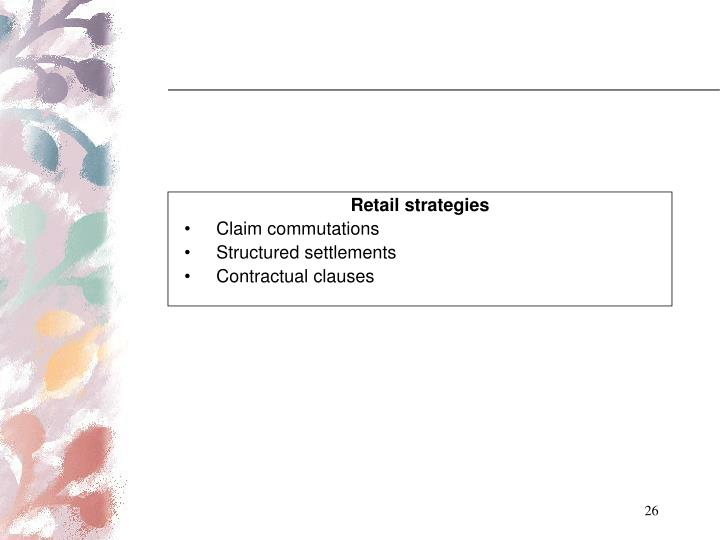 Retail strategies