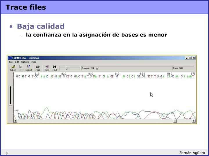 Trace files