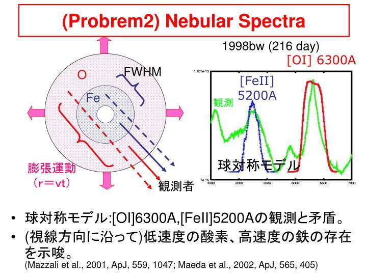 (Probrem2) Nebular Spectra