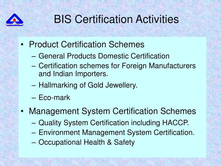 Product Certification Schemes