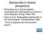 glomerulitis in historic perspective