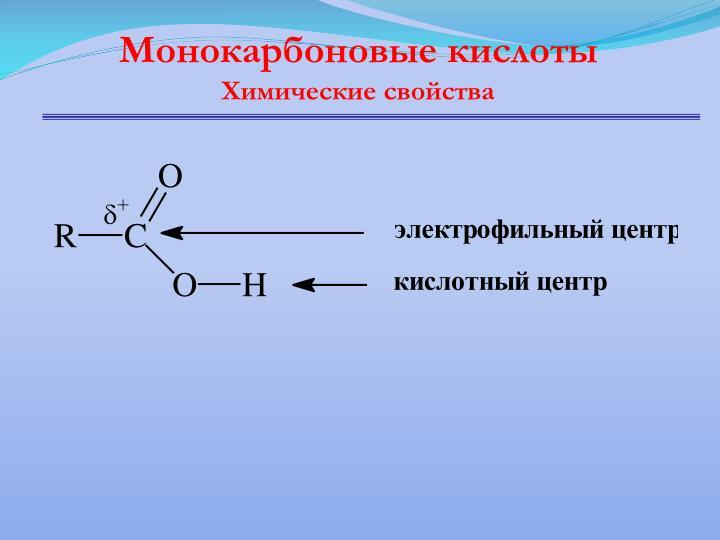 Монокарбоновые кислоты