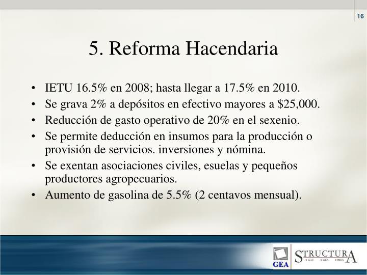 5. Reforma Hacendaria