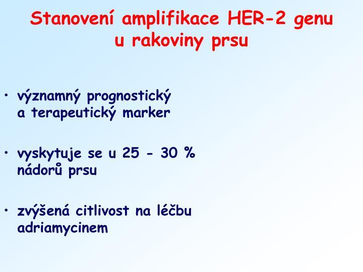 Stanovení amplifikace HER-2 genu