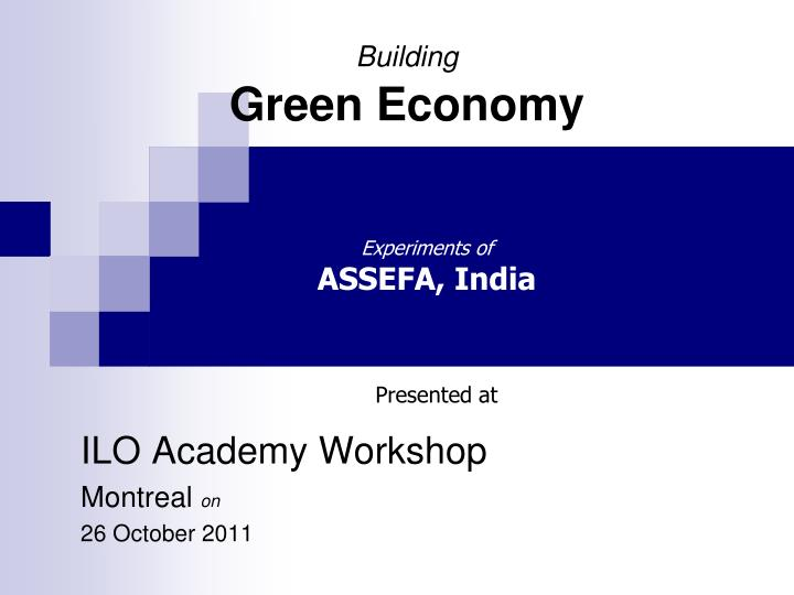 building green economy n.