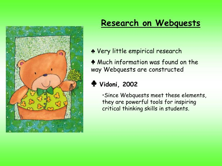 Research on Webquests