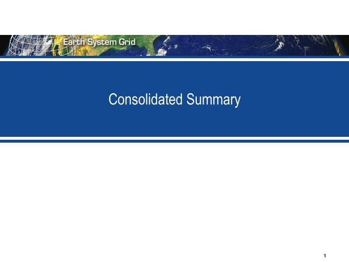 consolidated summary n.