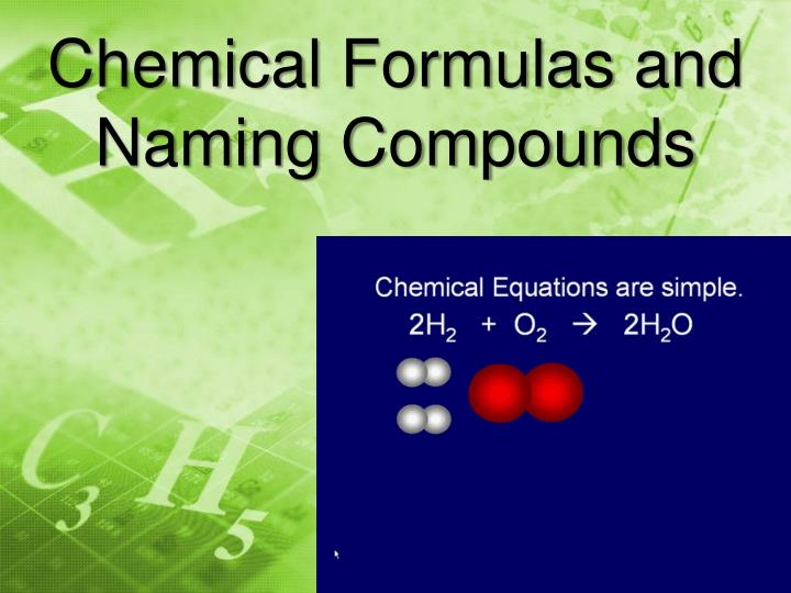 naming chemical compounds