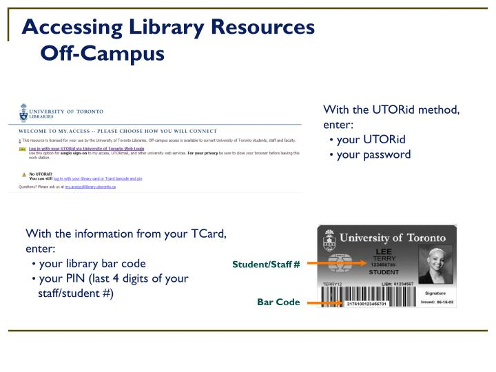 Accessing Library Resources
