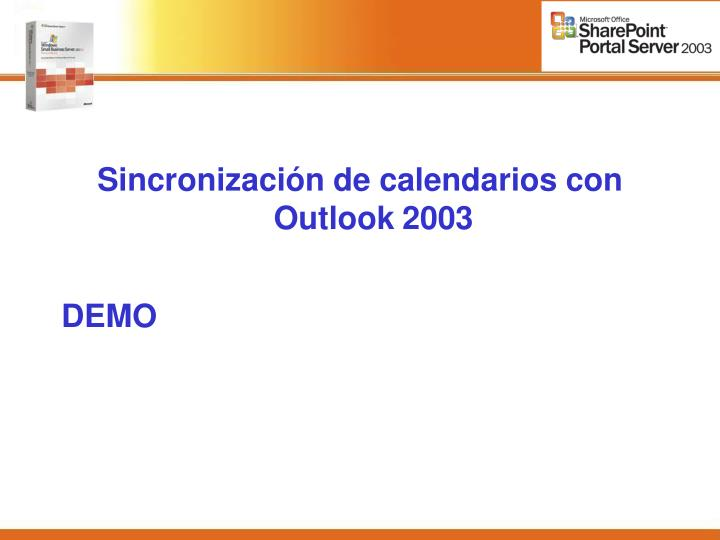 Sincronización de calendarios con Outlook