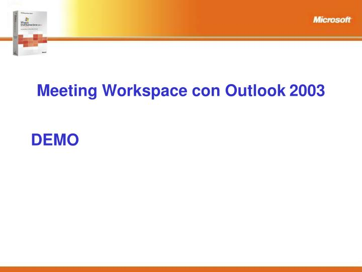 Meeting Workspace con Outlook