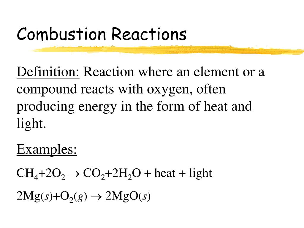PPT - Chemical Reactions PowerPoint Presentation, free ...