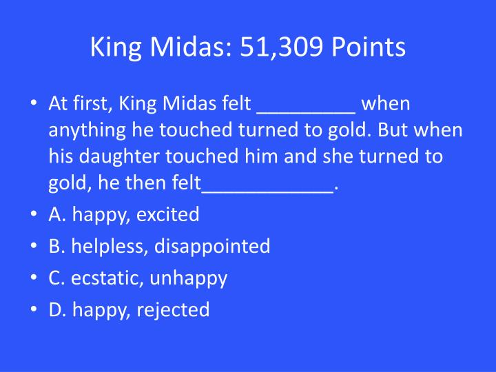 King Midas: 51,309 Points