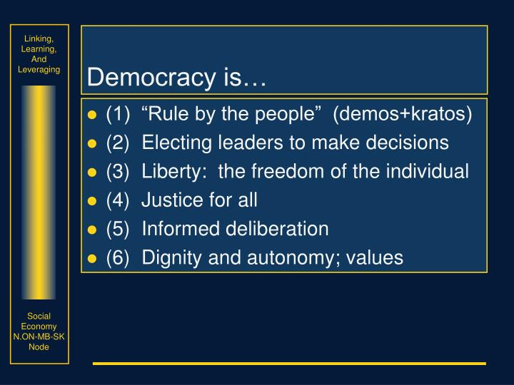 Democracy is…