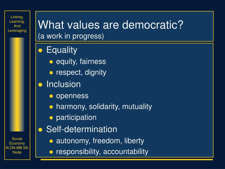 What values are democratic?