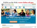 fafsa on the web www fafsa ed gov